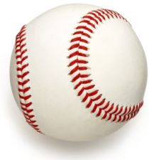 The baseball has the zigzag-zipper pattern which I touched on in a previous blog or here.