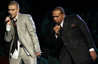 In the LAND of LAKEs and TREES, Justin Timberlake, (left), & Timbaland, (right), rock Duality ~ (White & Black)