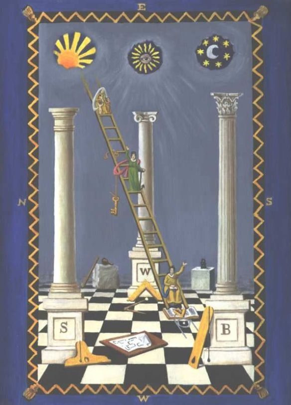 The H is the masonic ladder.