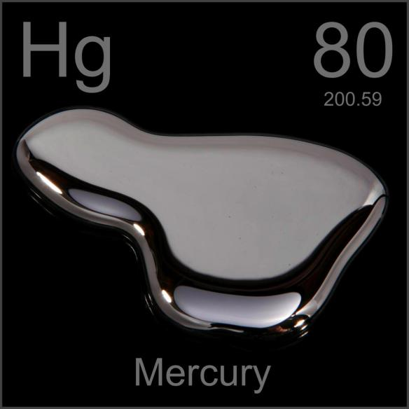 Hg is the atomic symbol for MERcury. It's atomic # is 80. H = 8