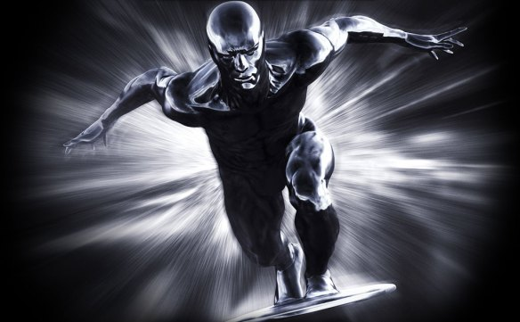 The Silver Surfer looks like he's made of MERCURY.