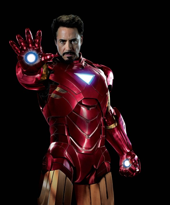 IRON Man is the FE (ATOMic symbol for IRON). He represents TIN (M)a(N) and aggressive male energy. Notice the downward-facing TRIangle on his chest.