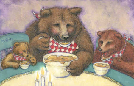 The Three BEARS eat porridge with LADELs.
