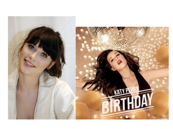Zooey Deschanel (left) of The Hitchhiker's Guide to the Galaxy and KATY PERRY are clones of one another.