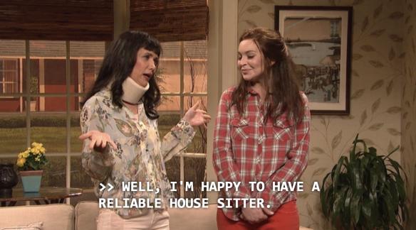 House Sitting Kristen Wiig SNL