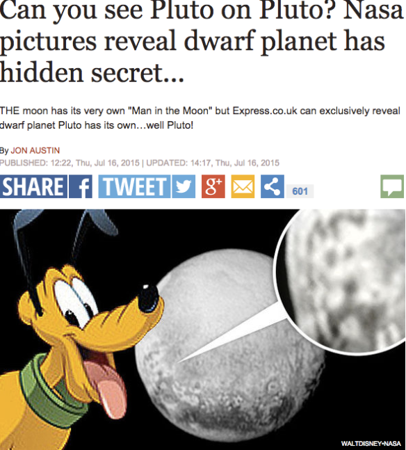 Disney's Pluto on planet Pluto