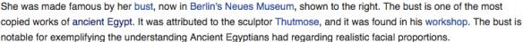 Bust of Nefertit