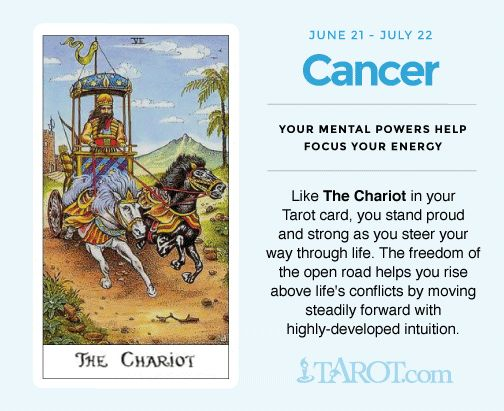 Cancer tarot The Chariot