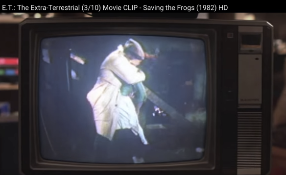 E.T. The Extra Terrestrial Saving the Frogs