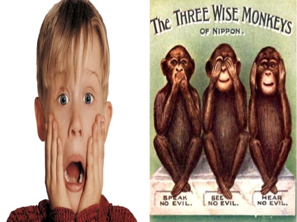 three wise monkeys macaulay culkin