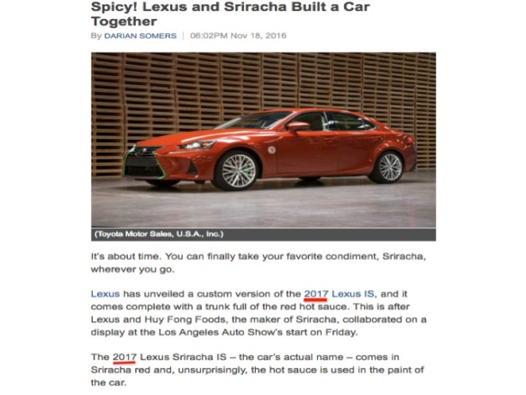 2017 Lexus Sriracha IS