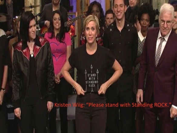 Kristen Wiig Stand with Standing ROCK