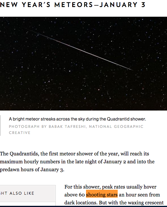 meteor showers quadrantids