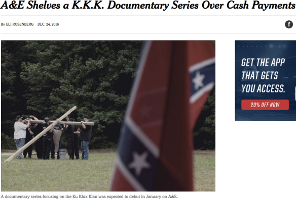 A&E KKK docuseries