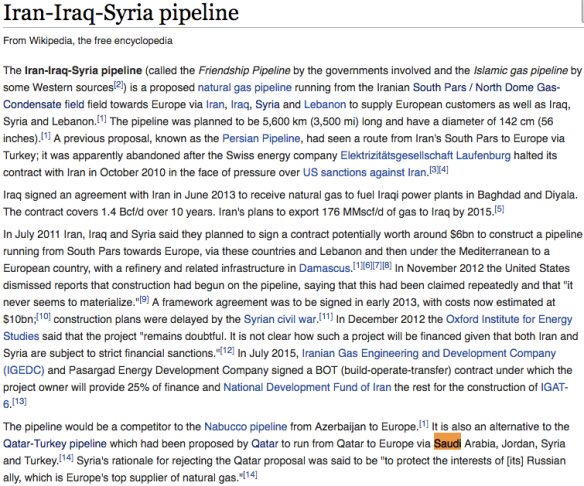 Iran-Iraq Syria Pipeline