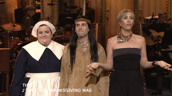 Kristen Wiig Thanksgiving SNL season 42 ePisode 7