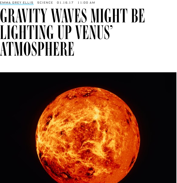 Gravity waves Venus