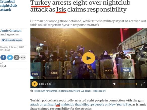 Istanbul Turkey Reina shooting