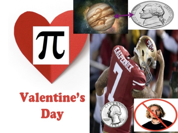 Valentine's Day Kaepernick Quarterback nickel Pi